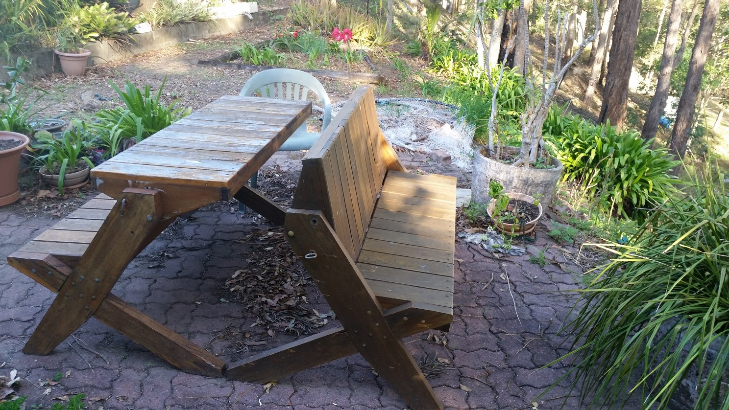 Timber Outdoor Furniture Sunshine Coast Displaying Chable Table View Chable  As Seat   Copy Part 98
